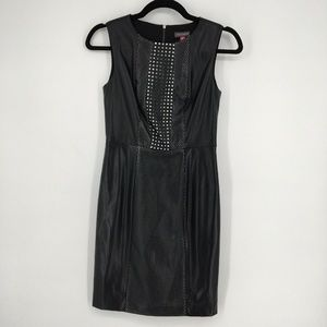 Vince Camuto Dress Sleeveless Faux Leather Mini